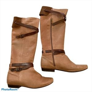 Eric Michael Tuscany leather boots buckle detail